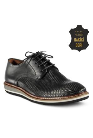 Marjin Jande Düz Deri Erkek Ayakkabı Siyah