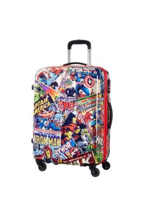 American Tourister Marvel Legend - Orta Boy Dört Tekerlekli Valiz Renkli 4499