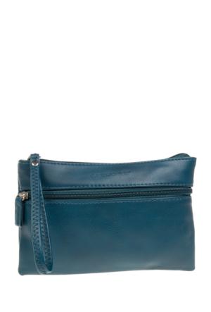 David Jones Kadın Clutch Çanta Açık Mavi