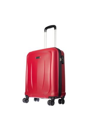 Pierre Cardin Polycarbonate Pc3500 Kabin Boy Valiz Kırmızı