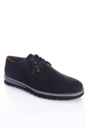 Shoes&Moda 509-2017-2000 Siyah Nubuk Baskılı Erkek Ayakkabı