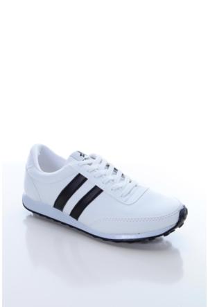 Trione 509-3517-1001 Beyaz-Siyah Kadın Spor Ayakkabı
