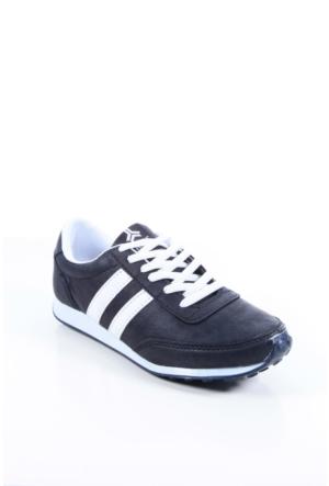 Trione 509-3517-1001 Siyah-Beyaz Kadın Spor Ayakkabı