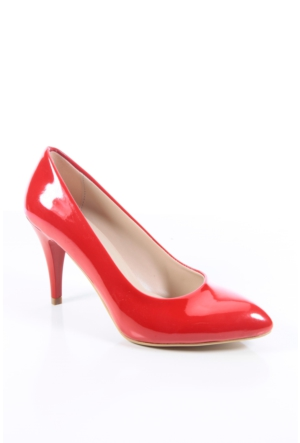Shoes&Moda 509-1017-1013 Kırmızı Rugan Stiletto