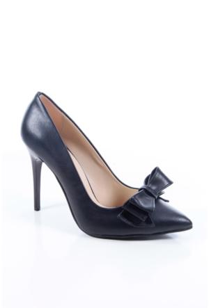 Shoes&Moda 509-1017-1015-Fy Siyah Cilt Kadın Stiletto Ayakkabı