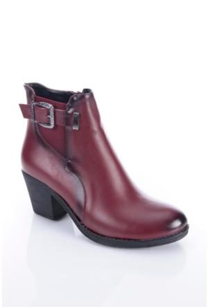 Shoes&Moda 509-1117-0965 Bordo Kadın Bot