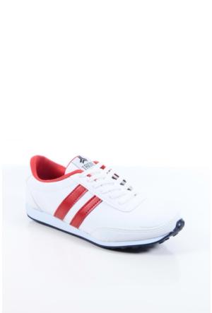 Trione 509-3517-1001 Beyaz-Kırmızı Kadın Spor Ayakkabı