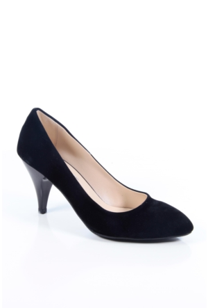 Shoes&Moda 509-1017-1011 Siyah Süet Stiletto