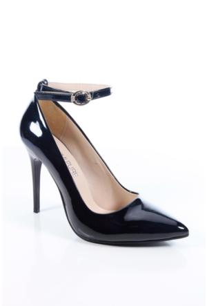 Shoes&Moda 509-1017-1015-Bl Siyah Rugan Kadın Stiletto Ayakkabı