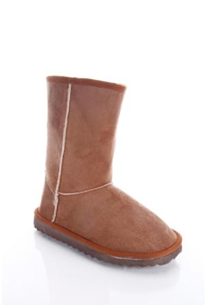 Shoes&Moda 509-5917-1300 Taba Kadın İçi Yünlü Bot