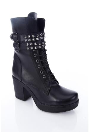 Shoes&Moda 509-6717-1009 Siyah Kadın Bot