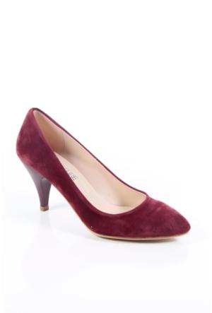 Shoes&Moda 509-1017-1011 Bordo Süet Stiletto