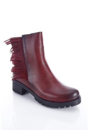 Shoes&Moda 509-6717-0006 Bordo Kadın Bot