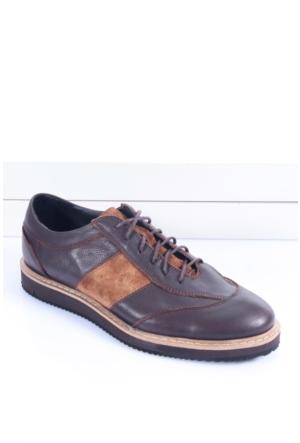 Shoes&Moda 509-1517-1154-07 Kahve-Taba Hakiki Deri Ayakkabı