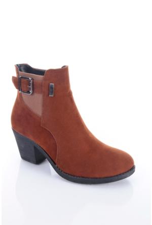Shoes&Moda 509-1117-0965 Taba Süet Kadın Bot