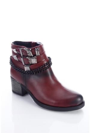 Shoes&Moda 509-6717-0050 Bordo Kadın Bot