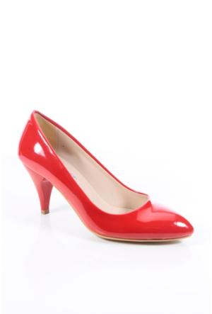 Shoes&Moda 509-1017-1011 Kırmızı Rugan Stiletto