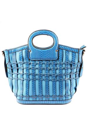 Dsn N21607 Mavi Kadın El Çantası