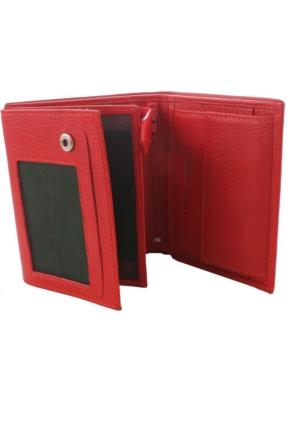 Derkon Erkek Deri Cüzdan 02-4 Kırmızı