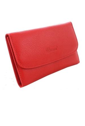 Derkon Style Kadın Deri Cüzdan 2003 Kırmızı