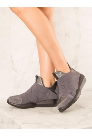 Mecrea Exclusive Eshe Gri Spor Ayakkabı