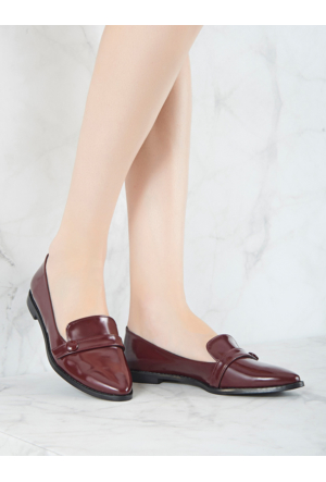 Mecrea Exclusive Mikasa Bordo Mat Rugan Loafer