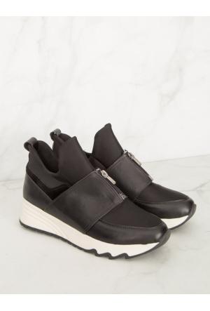 Mecrea Exclusive Enric Siyah Fermuar Detaylı Spor Ayakkabı