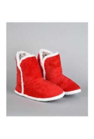 Afima Koyu Kırmızı Renk Kısa Panduf