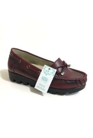 Berk Loafer Bordo Bayan Ayakkabı 6000170