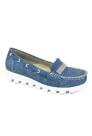 Berk Loafer Mavi Bayan Ayakkabı 6000175