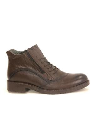 Fecri Hüner 105 Deri Kışlık Erkek Bot Ayakkabı