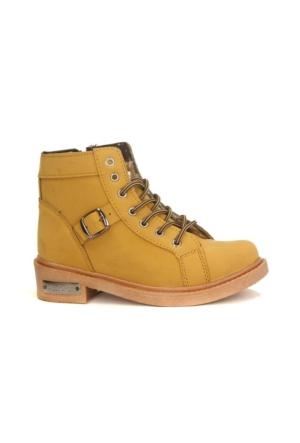All Force 800 Bağcıklı Fermuarlı Bayan Kışlık Bot Ayakkabı