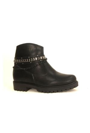 Tofima 279775 Fermuarlı Bayan Kışlık Bot Ayakkabı
