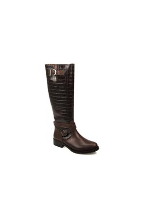 Uniquer Kadın Çizme 6398U 13600 Kahverengi