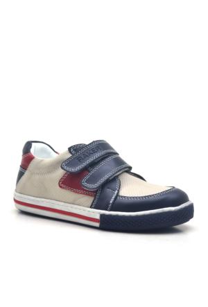 Raker® Hakiki Deri Cırtlı Lacivert Erkek Spor Ayakkabısı