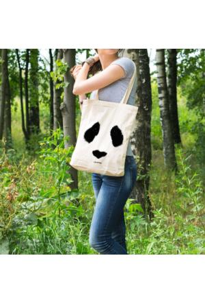 KFBimilyon Preserve Panda Baksılı Bez Çanta