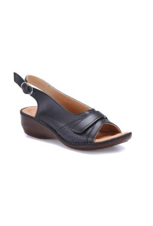 Polaris 71.156611.Z Siyah Kadın Sandalet