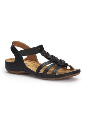 Polaris 71.157362.Z Siyah Kadın Sandalet