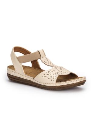 Polaris 71.157367.Z Bej Kadın Sandalet