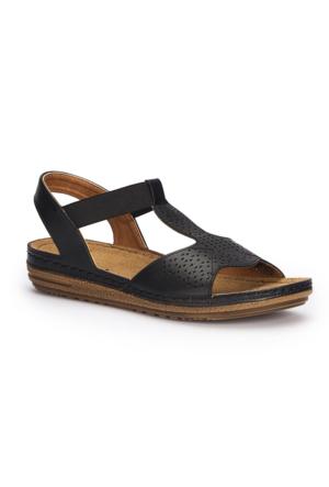 Polaris 71.157367.Z Siyah Kadın Sandalet