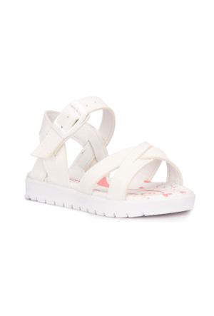 Polaris 71.508159.B Beyaz Kız Çocuk Sandalet
