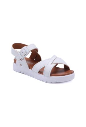 Polaris 71.508159.P Beyaz Kız Çocuk Sandalet