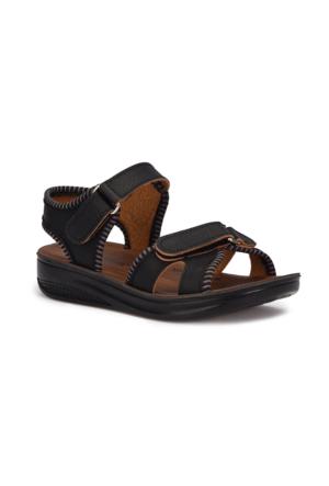 Polaris 71.508237.F Siyah Erkek Çocuk Athletic Sandalet