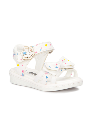 Polaris 71.509079.B Beyaz Kız Çocuk Sandalet