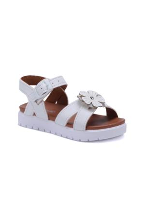 Polaris 71.509112.P Beyaz Kız Çocuk Sandalet