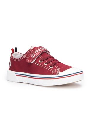 U.S. Polo Assn. Penelope Bordo Unisex Çocuk Sneaker Ayakkabı