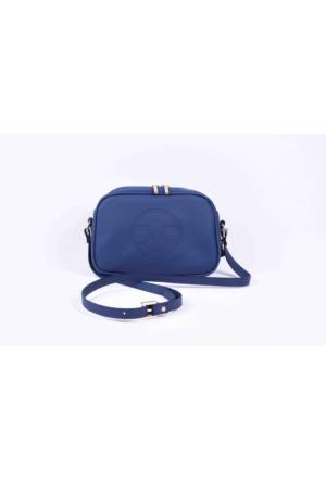 Versace Mavi Çapraz Çanta 64120