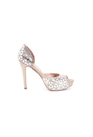 Rouge Kadın Abiye Ayakkabı Altın