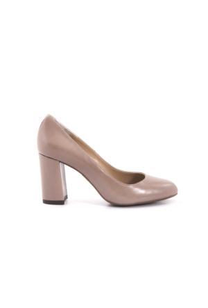 Kemal Tanca Kadın Platform Topuk Ayakkabı Vizon