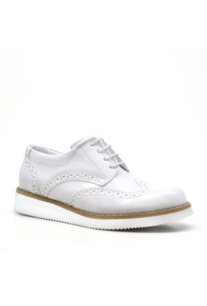 Raker ® Yüksek Taban Beyaz Rugan Erkek Çocuk Ayakkabısı